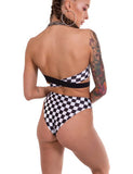 Checkerboard & Black Knickers