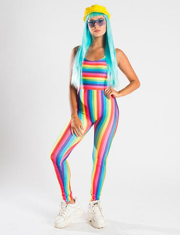 RAINBOW STRIPES UNITARD