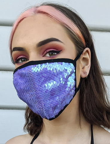 FAIRY SEQUIN DUST MASK - LILAC