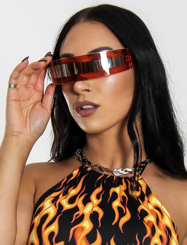 WARP DISCO VISOR - RED