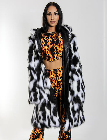 DOOF DADDY FAUX FUR JACKET - MONOCHROME LYNX *MADE TO ORDER*
