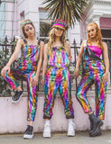 RAINBOW REVERSIBLE SEQUIN DUNGAREES