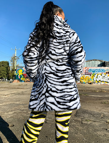 ZEBRA FAUX FUR JACKET *MADE TO ORDER*