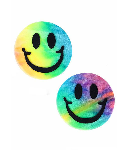 SMILEY NIPPLE PASTIES - BUBBLEGUM