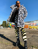 ZEBRA FAUX FUR JACKET