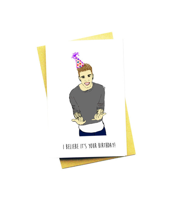 BELIEBER GREETING CARD