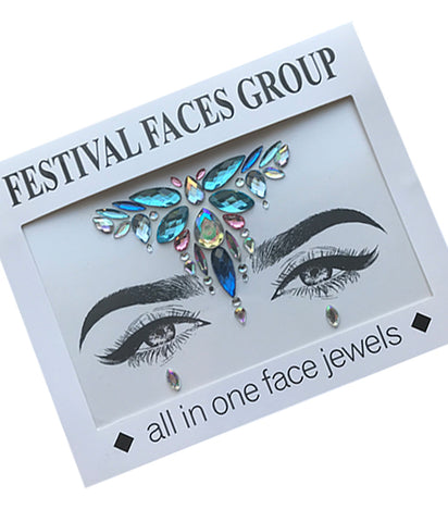 ALL IN ONE FACE JEWELS - BLUE