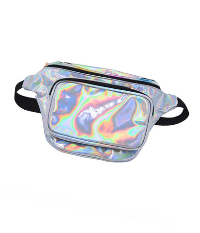 SPACE CADET HOLOGRAM BUM BAG - SILVER