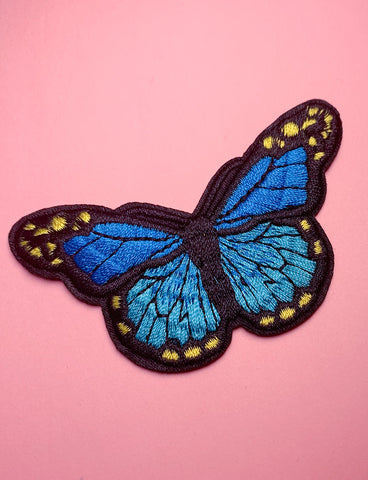 BEAUTIFUL BUTTERFLY PATCH - BLUE