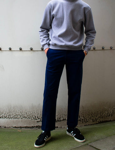 STRAIGHT CORD PANT - NAVY