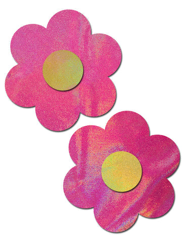 DAISY NIPPLE PASTIES - PINK & YELLOW