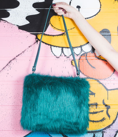 THE ZIGGY FAUX FUR HANDBAG