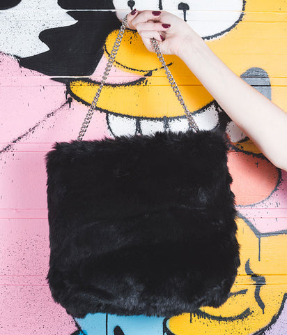 THE WINONA FAUX FUR HANDBAG