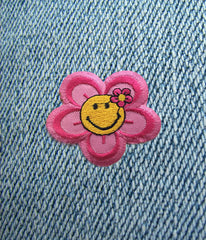 FLOWER POWER IRON ON PATCH