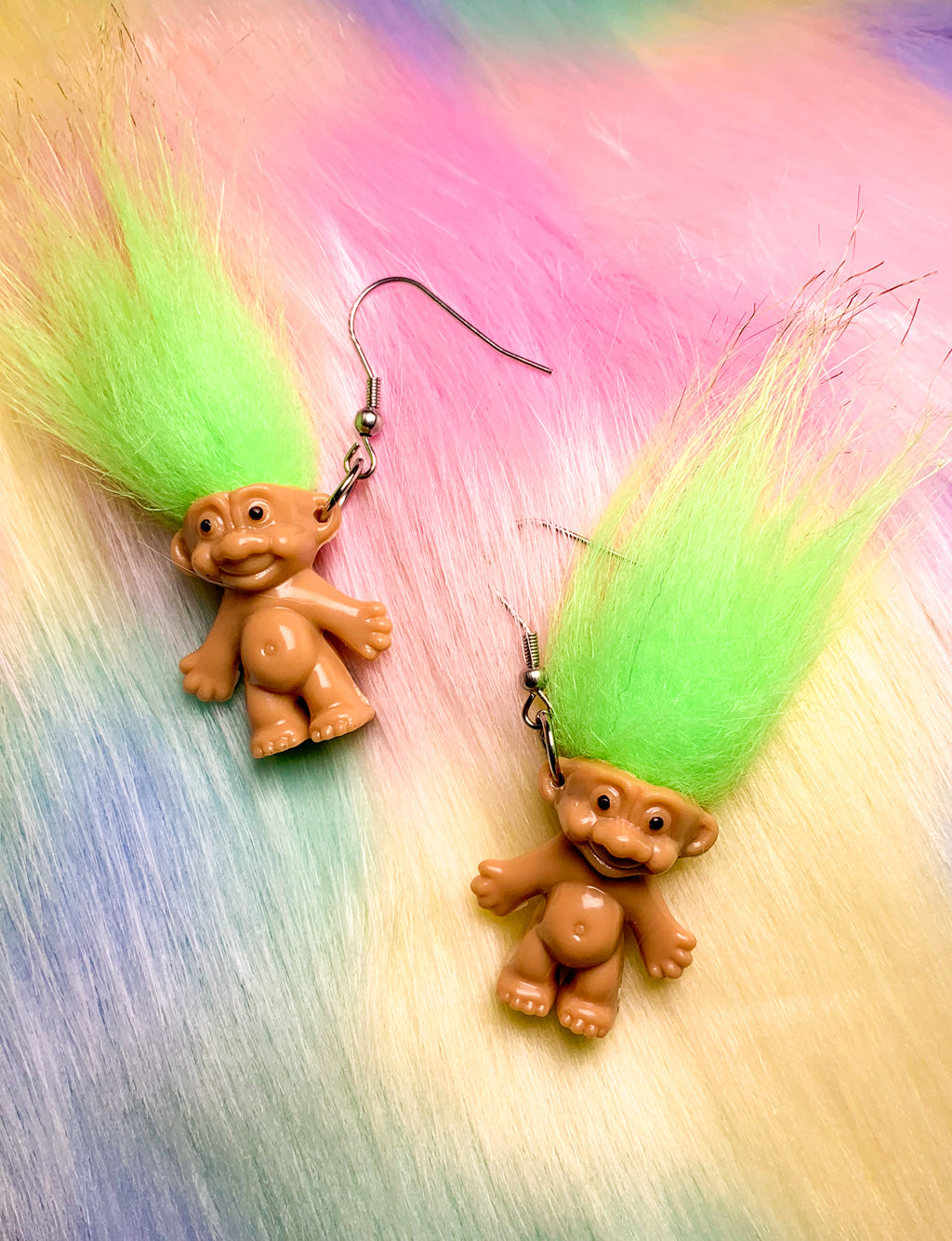 TROLL DOLL EARRINGS - GREEN