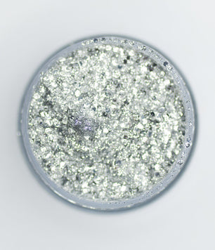 SILVER BIODEGRADABLE HAIR GLITTER GLUE