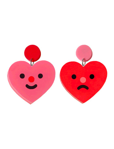 HEART FACE EARRINGS
