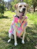 NICE CREAM FAUX FUR DOG JACKET