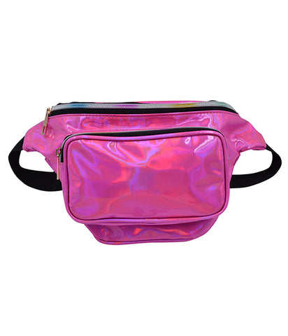 SPACE CADET HOLOGRAM BUM BAG - HOT PINK