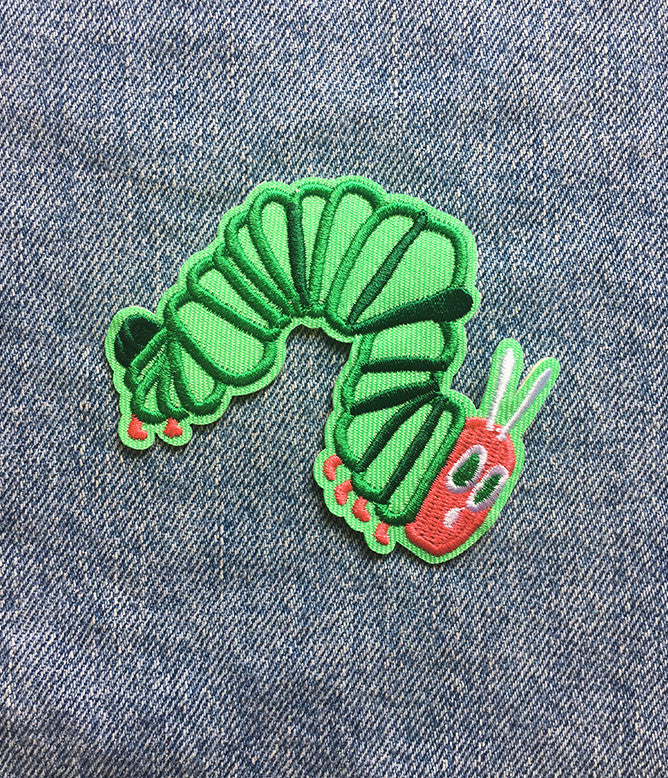 HUNGRY CATERPILLAR IRON ON PATCH