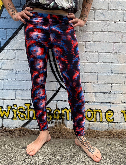 DOOF MEGGINGS - RED TIE DYE
