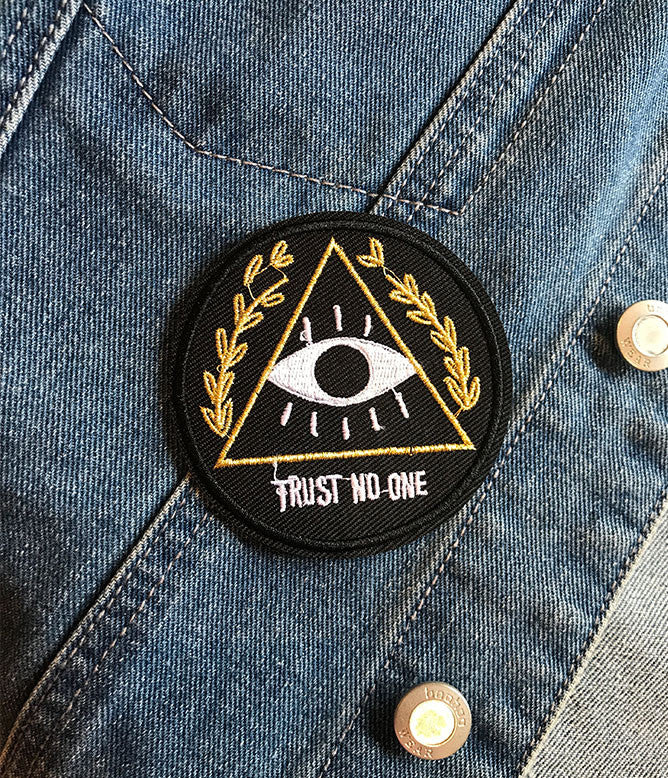 TRUST NO ONE IRON ON PATCH