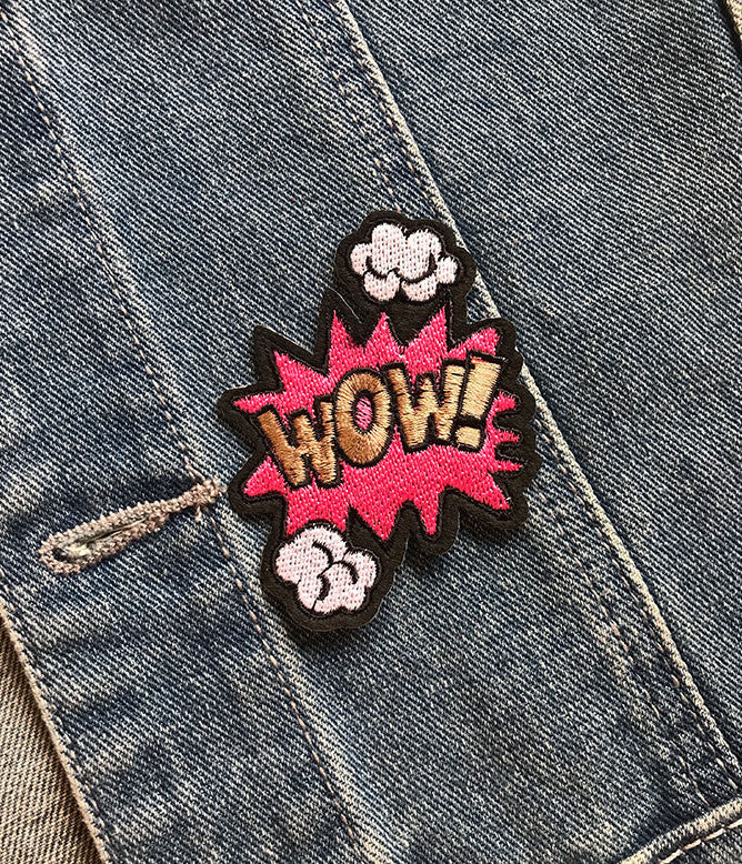 WOW IRON ON PATCH