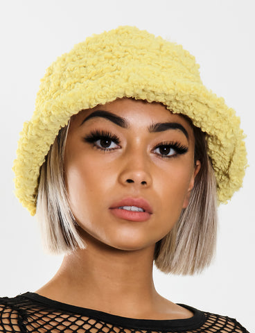 BLAZED FUZZY HAT - YELLOW