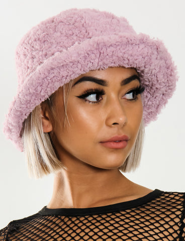 BLAZED FUZZY HAT - LILAC