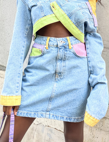KLUTZ DENIM SKIRT