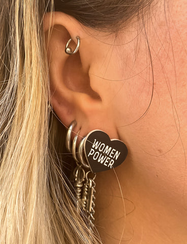 Women Power Stud Earrings