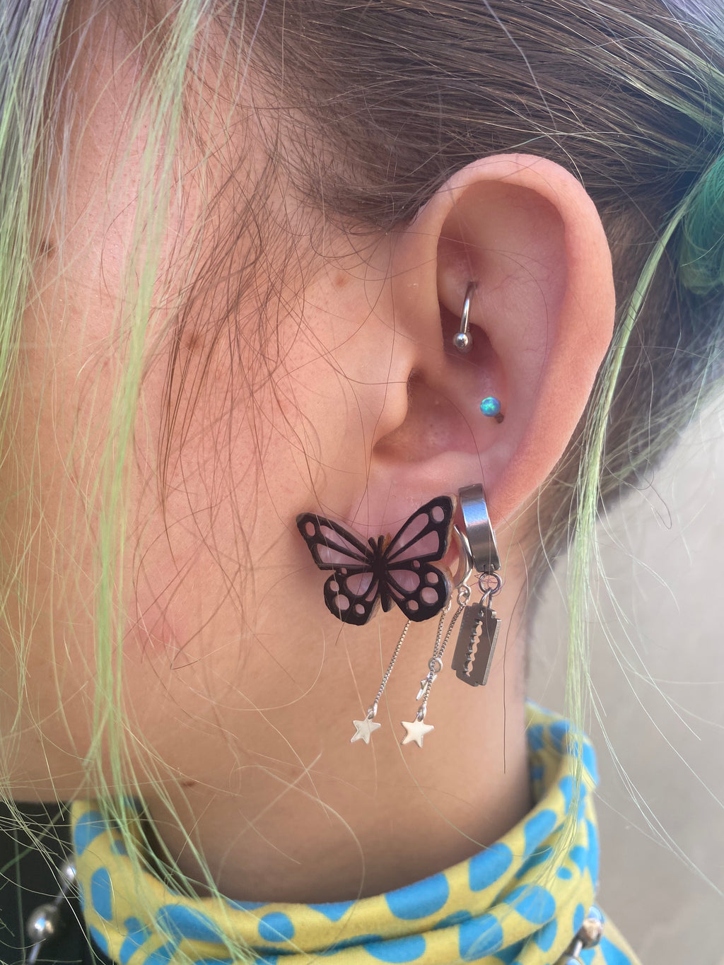 Butterfly Studs - Pink