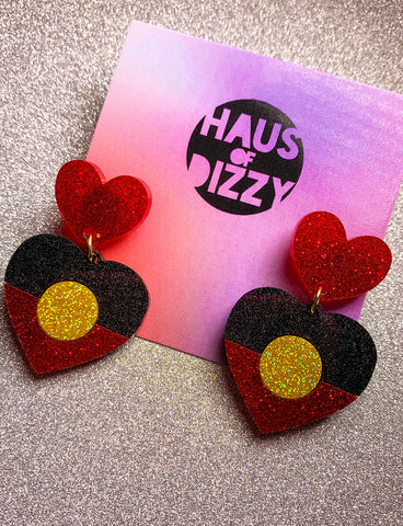 INDIGNEOUS GLITTER STUD EARRINGS