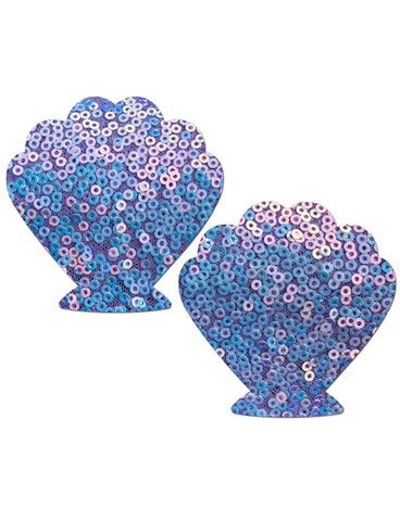 MERMAID NIPPLE PASTIES - LILAC SEQUIN