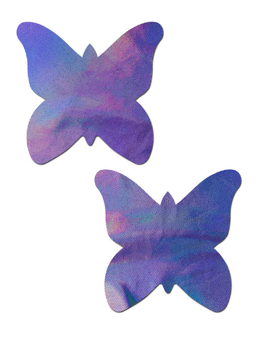 BUTTERFLY NIPPLE PASTIES - HOLOGRAM LAVENDER