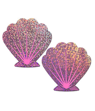 MERMAID SHELL NIPPLE PASTIES - LILAC