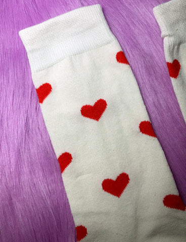 SEEING HEARTS SOCKS - WHITE