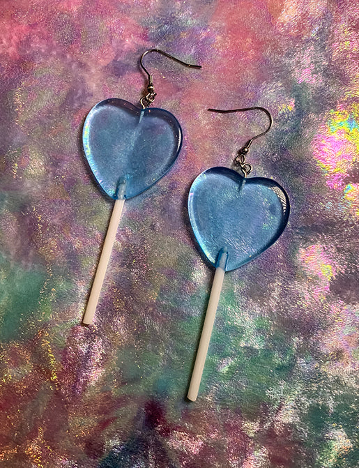 LOLLIPOP EARRINGS - BLUE