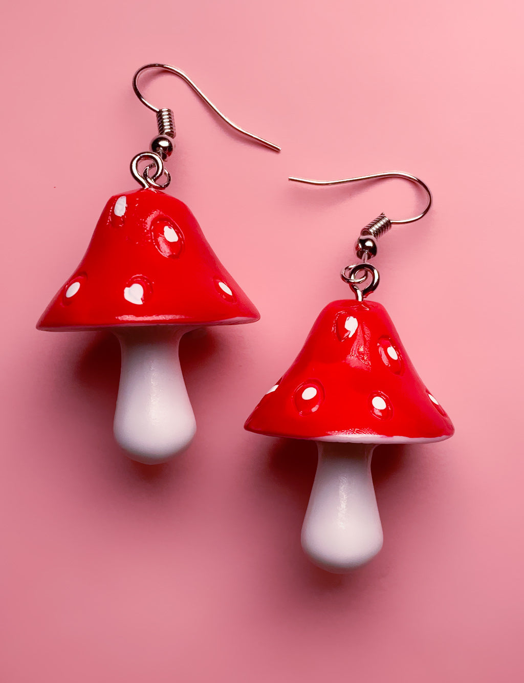 MAGIC MUSHROOM EARRINGS - RED