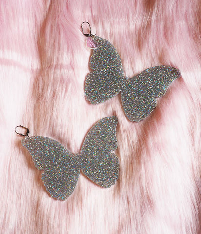 BUTTERFLY DREAM EARRINGS - GLITTER
