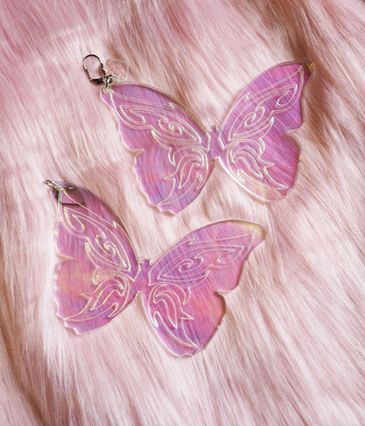 BUTTERFLY DREAM EARRINGS - HOLOGRAM