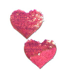 PINK SEQUIN HEART NIPPLE PASTIES