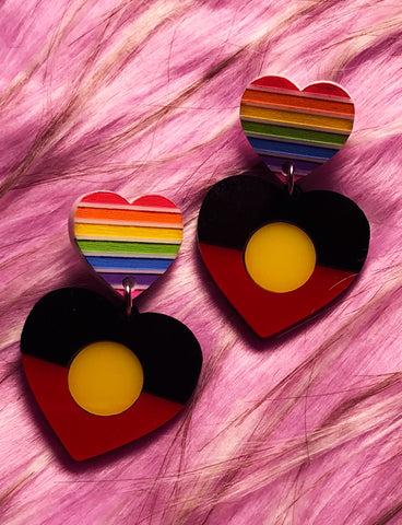 INDIGENOUS PRIDE EARRINGS - SMALL RAINBOW