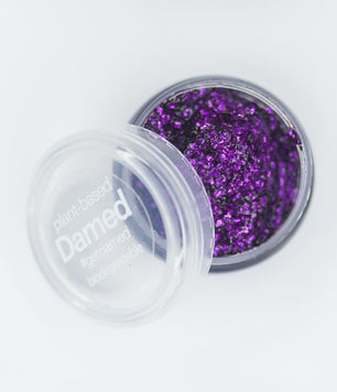 DARK PURPLE BIODEGRADABLE GLITTER GLUE