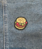 BURGER TIME IRON ON PATCH