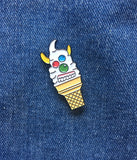 ICE CREAM FACE LAPEL PIN