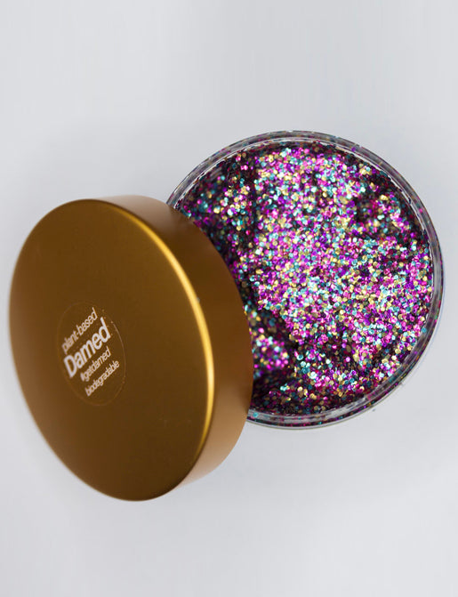 RAINBOW BIODEGRADABLE HAIR GLITTER GLUE