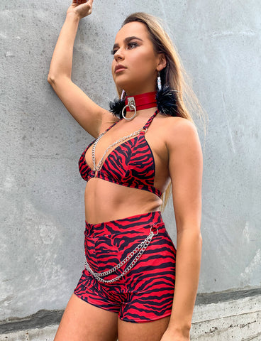 ANGEL BRALETTE - RED ZEBRA