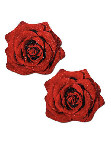 GLITTER VELVET ROSE NIPPLE PASTIES