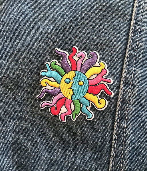 RADICAL SUN IRON ON PATCH